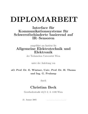 meine Diplomarbeit als PDF - Technische Universität Wien