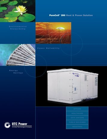 PureCell™ 200 Heat & Power Solution - Fuel Cell Markets