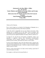 Statement by the Hon - Ministry of Foreign Affairs & Foreign Trade