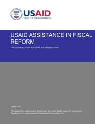 usaid assistance in tax administration in bosnia - Fiscal Reform