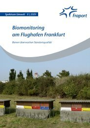 Biomonitoring am Flughafen Frankfurt - Fraport AG