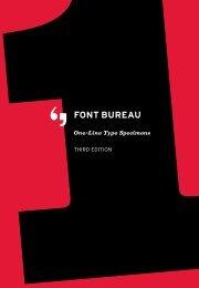 One-Line Type Specimens Third Edition - Font Bureau