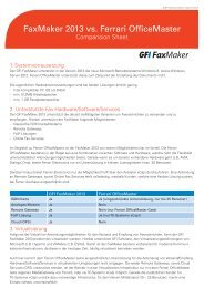 FaxMaker 2013 vs. Ferrari OfficeMaster - ADN