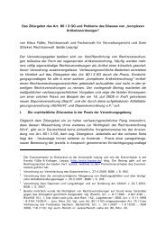 Das Zitiergebot des Art. 80 I 3 GG und Probleme des Erlasses von ...