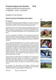 Proyecto Integral León Dormido PILD