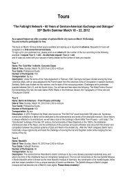 58th Berlin Seminar March 18 – 22, 2012