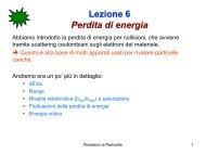 Lezione 6 Perdita di energia - Fisica