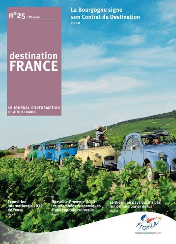La Bourgogne signe son Contrat de Destination - Atout France