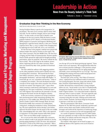 Graduates Urge New Thinking in the New Economy Volume 1, Issue 2