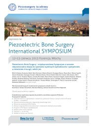 Piezoelectric Bone Surgery International SYMPOSIUM