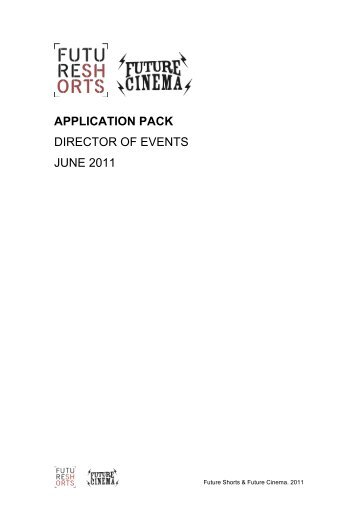 APPLICATION PACK DIRECTOR OF EVENTS JUNE 2011