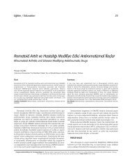 Romatoid Artrit ve Hastal›¤› Modifiye Edici ... - FTR Dergisi