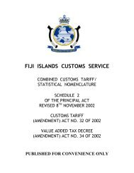 FIJI ISLANDS CUSTOMS SERVICE - Pacific Islands Forum Secretariat