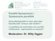Prof. Dr. Thomas Zeltner - Forum Gesundheitswirtschaft Basel