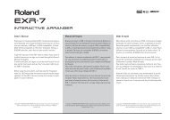 Interactive Arranger - Roland