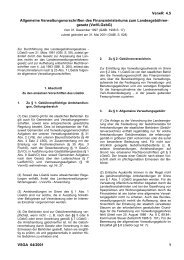 Allgemeine Verwaltungsvorschriften des Finanzministeriums zum ...