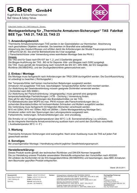 Atex Emv Und Druckgeraterichtlinie Konformitatserklarung