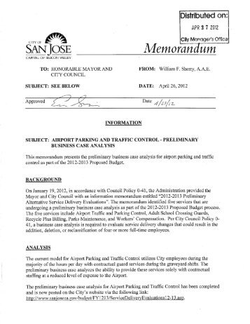 Preliminary Business Case - San Jose International Airport (SJC)