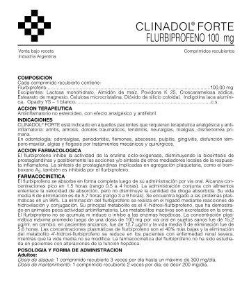 Clinadol Forte Prosp. 07/05.qxd - Gador SA