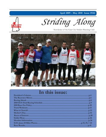 2010 April / May Newsletter - Gate City Striders