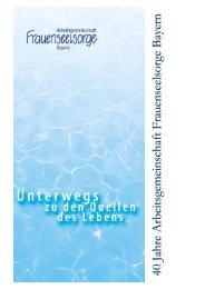 Seiten 1, 2 und 9 - Frauenseelsorge Bayern