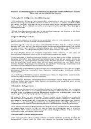 Allgemeine Geschäftsbedingungen für die Vermietung von ...