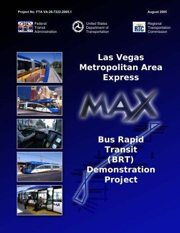 Bus Rapid Transit (BRT) Demonstration Project Las Vegas ...