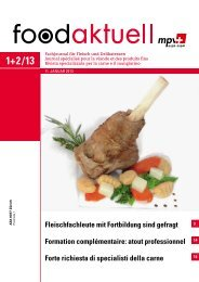 Fleischfachleute mit Fortbildung sind gefragt ... - Foodaktuell.ch