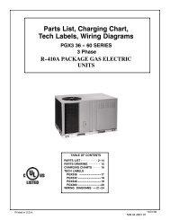 Parts List, Charging Chart, Tech Labels, Wiring Diagrams PGX3 36
