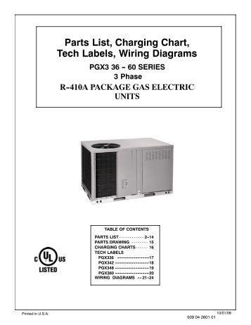 parts list charging chart wiring diagrams phs036 phs048 parts list charging chart tech labels wiring diagrams pgx3 36