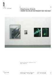 Stephanie Kiwitt - Galerie b2
