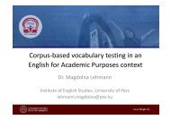 Corpus-based vocabulary testing in an English for Academic ...