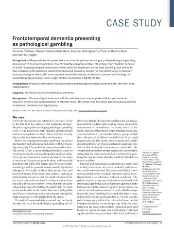 Frontotemporal dementia presenting as ... - ResearchGate