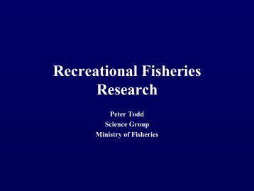 Recreational Fishing Research - Ministry of Fisheries
