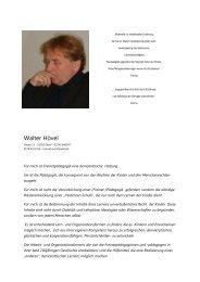 Walter Hövel - Freinet-Kooperative eV