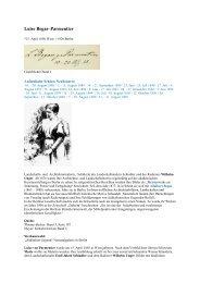 Luise Begas–Parmentier - Gästebücher von Schloss Neubeuern