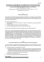 Verordnung der Landesregierung und des Ministeriums für Umwelt ...