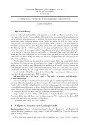 Interpretationskurs Theoretische Philosophie Zusatzaufgaben 0 ...