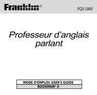 Professeur d'anglais parlant - Franklin Electronic Publishers, Inc.