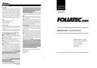 ENGINE STARTER - Foliatec