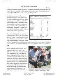 Field Days Feature Local Energy Rick Exner The new PFI Bioenergy ...