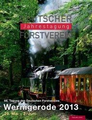 gesamte Einladungsbroschüre - Deutscher Forstverein