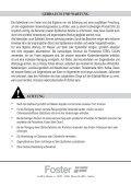 Gebrauchsanweisung - Foster - Seite 5