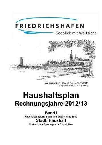 Haushaltsplan 2012-13 Band 1 - Friedrichshafen