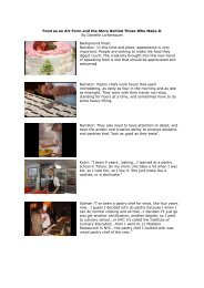 Food as an Art Form and the Story Behind Those Who Make It By ...