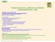 FREDERIKSHAVN & OMEGNS HAVEKREDS ARRANGEMENTER i ...