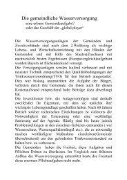 Die gemeindliche Wasserversorgung - Freie Wähler Bayern