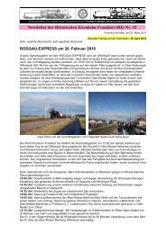 Newsletter_32 vom 22.03.2010 - Historische Eisenbahn Frankfurt