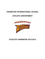 Athletic Handbook - Frankfurt International School
