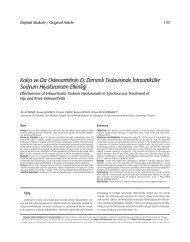 Kalça ve Diz Osteoartritinin Efl Zamanl› Tedavisinde ... - FTR Dergisi